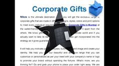 Watch out our latest Video on Corporate Gifts In Mumbai