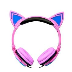 CORNMI Earphones Foldable Cat Ear Headset For Xiaomi iphone 6 Samsung Tablet PC Notebook Auriculare LED Light Flashing Audifonos Gaming Headphones, Gaming Headset, Sports Headphones, Cat Ear Headset, Iphone 6, Lampe Led, Laptop Computers, Cell Phone Accessories, Cat Ears