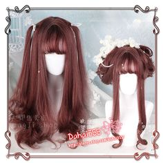 Gothic Cos Wig Sweet Lolita Japanese Harajuku Kawaii Gradient Long Curly Hair  | eBay