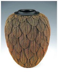 Sky Dusk, 2006, by Jacques Vesery; Cherry, Ebony #ModernPotteryIdeas #ModernPottery #PotteryIdeas #Ceramic click now for more.
