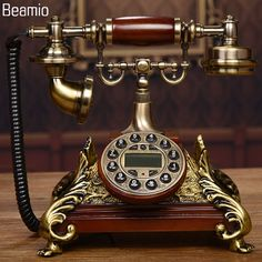 Cheap telefono fijo, Buy Quality telephone landline directly from China vintage antique telephone Suppliers: New High-end Vintage Antique Telephones European Telephone Landline Telephone RetroTelephone Telefono Fijo For Home Office Vintage Phones, Vintage Telephone, Vintage Iron, Retro Vintage, Boudoir, Clock Display, Europe Fashion, Vintage Belt Buckles, Leather Journal