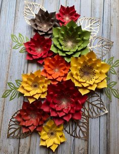 Set of 10 paper flowers /fall decorations /home decor Fall Decorations, Thanksgiving Decorations, Flower Decorations, Free Paper Flower Templates, Paper Flower Backdrop, Giant Paper Flowers, Flower Clipart, Flower Backgrounds, Flower Making