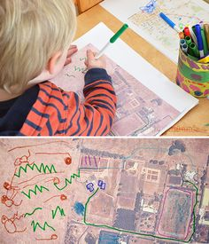 Playing with Maps - open-ended exploration for preschoolers Map Activities, Social Studies Activities, Preschool Activities, Project Based Learning, Kids Learning, Transportation Unit, Fall Preschool, Creative Curriculum, Learning Through Play