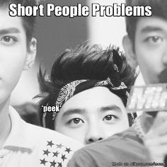 Aw. Squishy Kyungsoo and giants Minho and Kris. *don't worry, your height is enough for me*