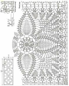 Resultado de imagem para pontos de abacaxi para colcha de croche