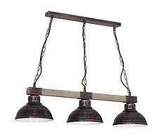 Lámpara de techo de metal y madera Jacob - marrón