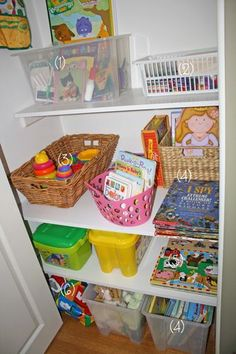 If we had a closet with shelves...toy organization