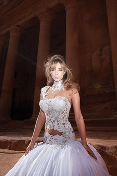 Oved Cohen Sexy Wedding Dress. I think this shows a little more than I'd like, but it is very pretty