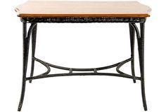 Oak & Wicker Table