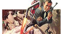 "Look UP by Walt Howarth for the James Bond film, ""Thunderball"". James Bond Cars, Licence To Kill, Bond Girls, Illustration Techniques, Film Base, Creative Art, Fan Art, Actors, History"