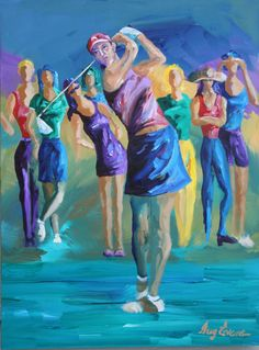 """""""Girl's Day Out"""" (Michele Wie and friends) by Greg Evans"""