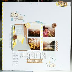 #papercraft #scrapbook #layouts - *allgäu '13* by Aline76 @2peasinabucket
