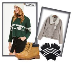 """Romwe - XVIII/9"" by dzemila-c ❤ liked on Polyvore featuring romwe"