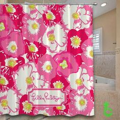 Cheap Lilly pulitzer cherry begonias Shower Curtain
