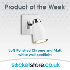 Product of the week from Socket Store! These wall #spotlights are a #smart way to #highlight your favourite #features!  www.socketstore.co.uk