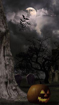 Halloween Artwork, Halloween Scene, Halloween Pictures, Halloween Wallpaper, Halloween House, Halloween Night, Holidays Halloween, Spooky Halloween, Vintage Halloween