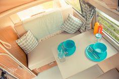 Ernie's Westfalia Camping interior is very usable