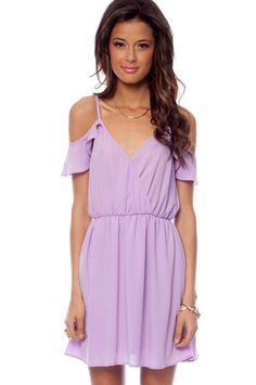 Off Your Ruffles Dress in Lavender