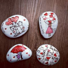 80 romantic valentine painted rocks ideas diy for girl (78)