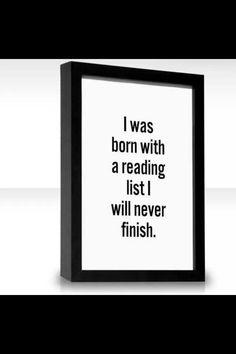 Die eindeloze lijst vsn boeken die je nog wil lezen...
