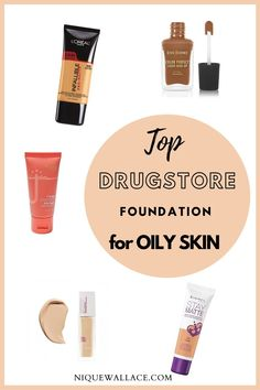Top Drugstore foundations for Oily skin   Nique's Beauty #summermakeup #oilyskinfoundation #woc Acne Makeup, Drugstore Makeup, Makeup Tips, Makeup Tutorials, Top Drugstore Foundations, Diy Beauty, Beauty Hacks, Special Occasion Makeup, Foundation For Oily Skin