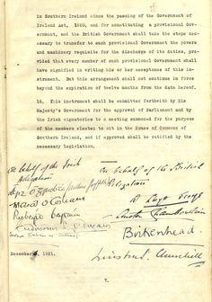 Anglo-Irish Treaty – 6 December 1921