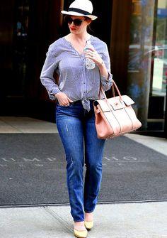 Christina Hendricks and she carries mulberry!