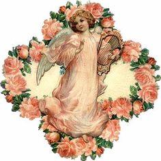Vintage Postcards, Vintage Images, Vintage Art, Victorian Valentines, Vintage Valentines, Decoupage, Dossier Photo, Victorian Angels, Angel Crafts