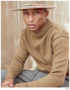 Pharrell Wears Lanvin, Haider Ackermann + More for Ebony November 2014 Photo Shoot image Pharrell Ebony November 2014 Photo Shoot 004