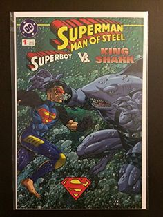 Superman The Man Of Steel 1996 Kenner Limited Edition #1 Shark Attack with Superboy. Never Released!
