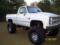 84 Chevy shortbed, a little too jacked up but love the truck!