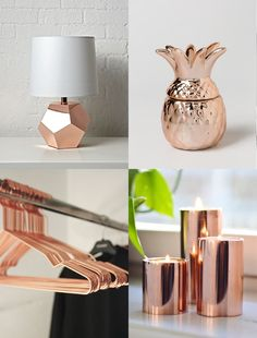 Decorate your environment with super cute decorative objects. Décoration Rose Gold, Rose Gold Decor, Gold Home Decor, Room Decor Bedroom Rose Gold, Rose Gold Rooms, Cute Room Ideas, Cute Room Decor, Teenage Room Decor, Deco Rose