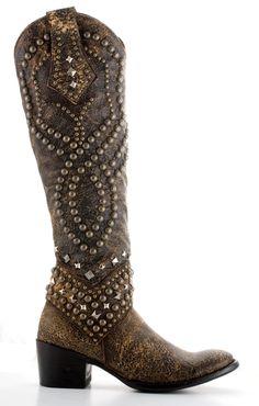Womens Old Gringo Belinda Boots Brown #L903-3