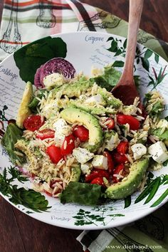 Avocado and Feta Cheese Orzo Salad | FoodOur