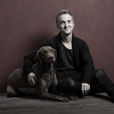 Tom Felton and Timber ❤