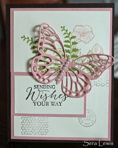 Mother's Day card using Stampin' Up! Butterfly Basics stamp set