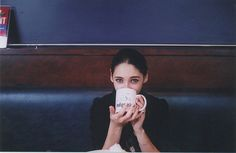 girl with her coffee