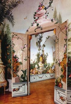 Johann Wenzel Bergel, garden rooms at Schloss Schonbrunn, Vienna, circa 1777