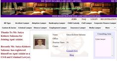 """Best Lawyers in Rajasthan .  Thanks To Mr. Satya Kishore Saksena for Joining Apni Adalat. Recently Mr. Satya Kishore Saksena  has registered himself on Apni Adalat as a Civil and Criminal Lawyer.  Free Registration is Open for Lawyers on Apni Adalat. Register yourself to get more cases and clients. Visit for free registration to """"apniadalat.com"""" Good Lawyers, States Of India, Child Custody, Divorce Lawyers, Family Matters, Delhi Ncr, Finance, Trust, Lord"""