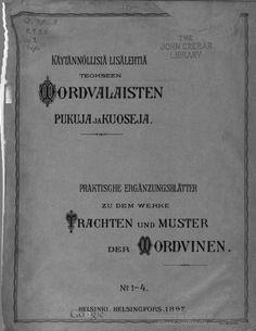 Käytännöllisiä lisälehtiä teokseen Mordvalaisten pukuja ja kuoseja -  Praktische Ergänzungsblätter zu dem Werke Trachten und Muster der Mordvinen - (01 of 73)