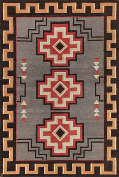 LW30D, grey/rust – Southwestern rugs, Luxury Lodge comes to life in this imaginative collection. Traditions of the past meet modern needs for quality, beauty and comfort in these unique and timeless designs inspired by Native American motifs from the American Southwest. Soft pile weave replaces the traditional flat weave of typical Navajo-inspired carpets, resulting in luxuriously soft, superior quality hand-woven rugs.