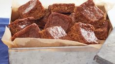 Parkin, a British treat made of oats and molasses, matures for several days for a delicious, gooey texture.