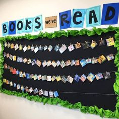 Creative way to show the books read in the classroom this year