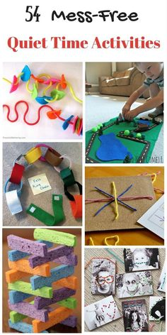 There are so many great quiet-time activities here. My preschooler loves them.