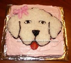 Homemade Girl's Dog Cake: I love this site, it is the first place I go when birthday time rolls around. I made this Girl's Dog Cake for my daughter's first birthday. I made the