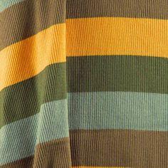 FABRIC8 SWEATER KNIT Cotton Stripes Brown by DartingDogFabric
