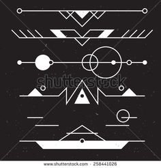 Set of vector minimalism/geometry/hipster design elements