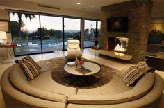 Conversation pit inspired.  Modern Dream Homes: Lara Spencer's Mid-century Home in Beverly Hills