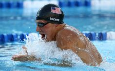 Ryan lochte, swims to live, not lives to swim.