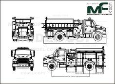 American LaFrance STERLING 2 DOOR LIBERTY PUMPER (fire engine) - drawing